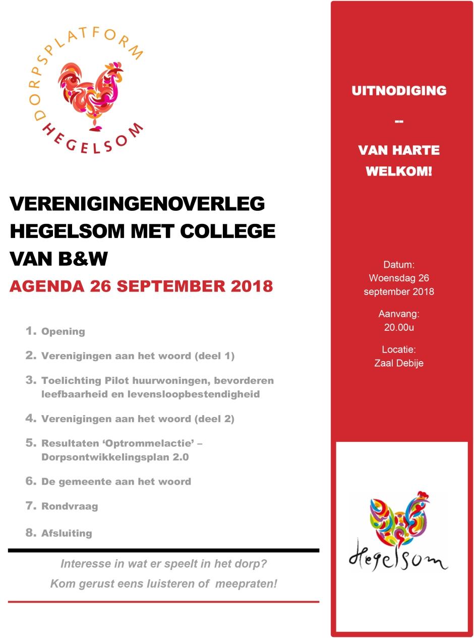 Verenigingenoverleg Hegelsom met College van B&W